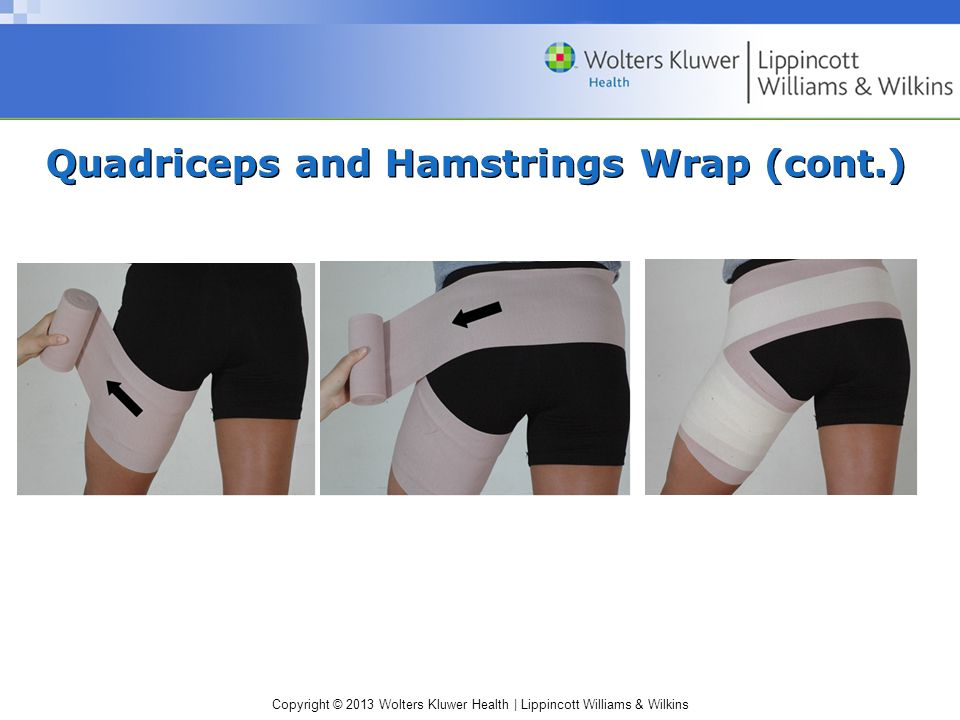 Quadriceps and Hamstrings Wrap (cont.)