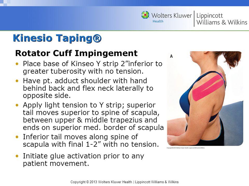 Kinesio Taping® Rotator Cuff Impingement