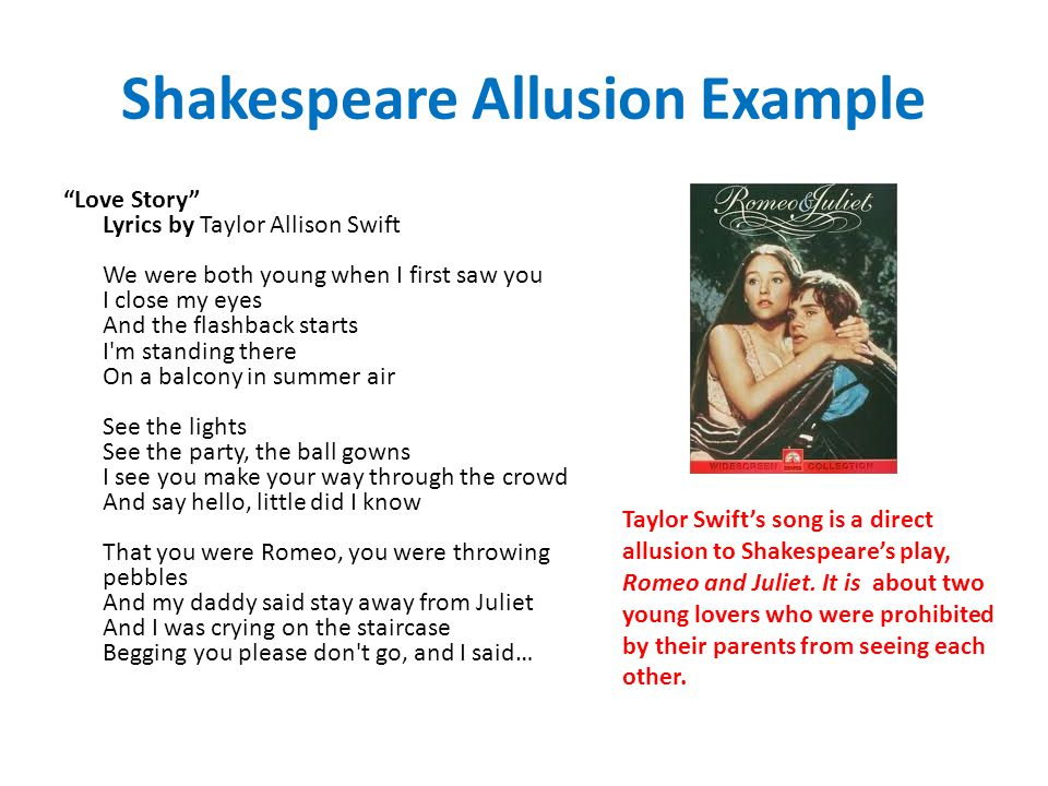 Shakespeare Allusion Example