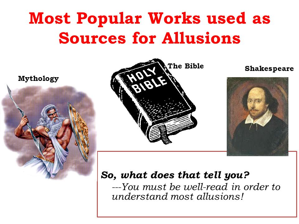 Most Popular Works used as Sources for Allusions