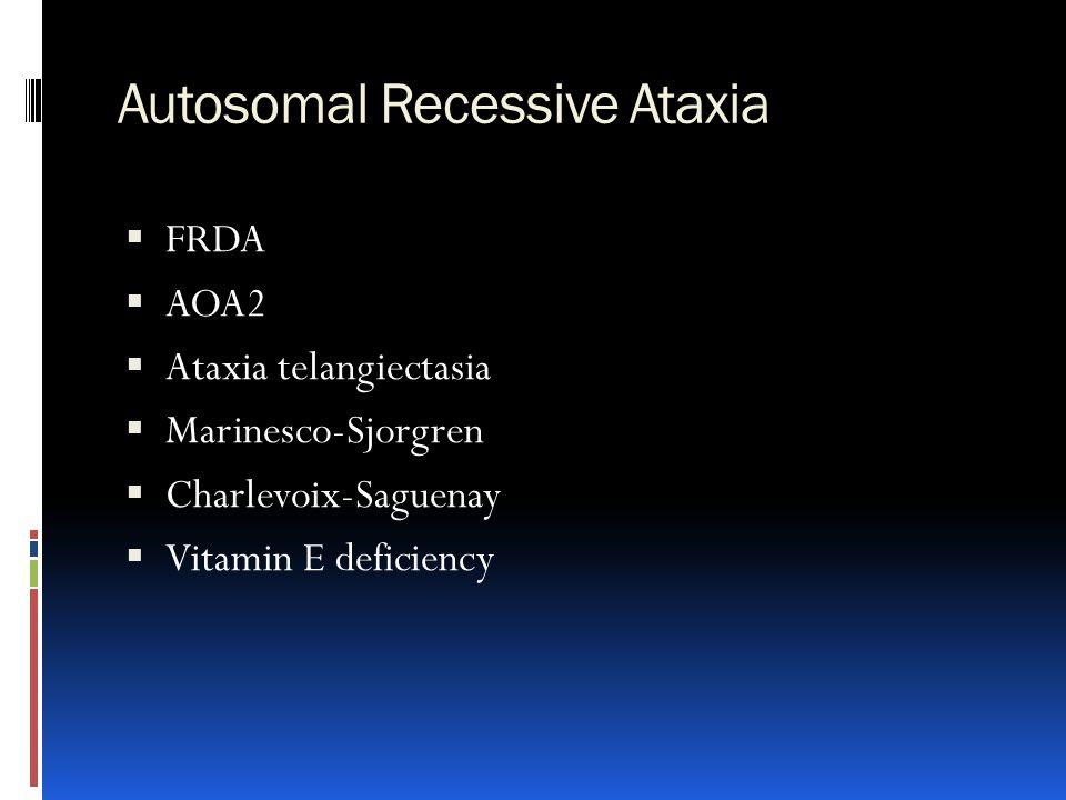 Autosomal Recessive Ataxia