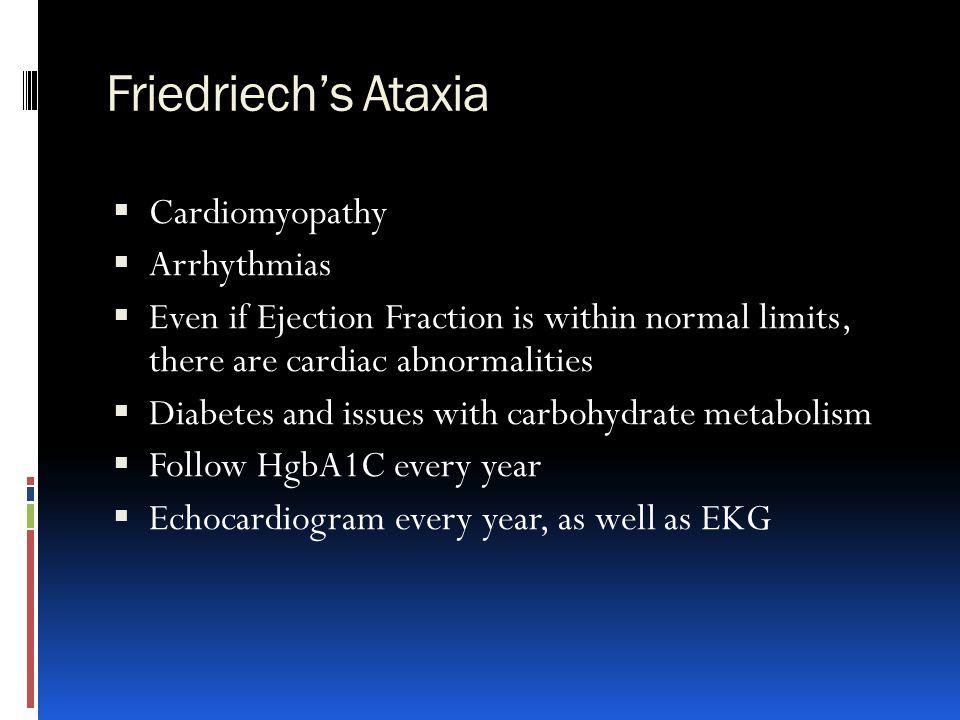Friedriech's Ataxia Cardiomyopathy Arrhythmias