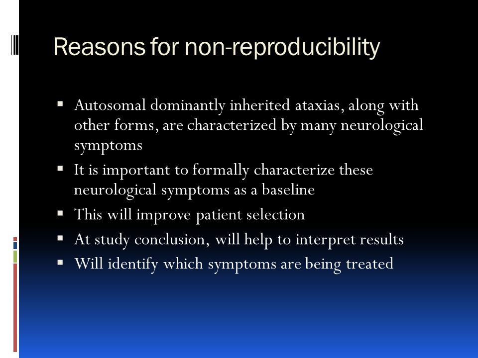 Reasons for non-reproducibility