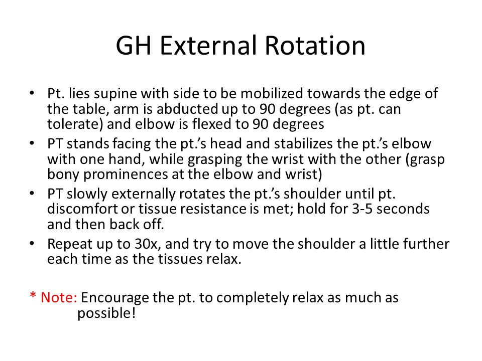 GH External Rotation