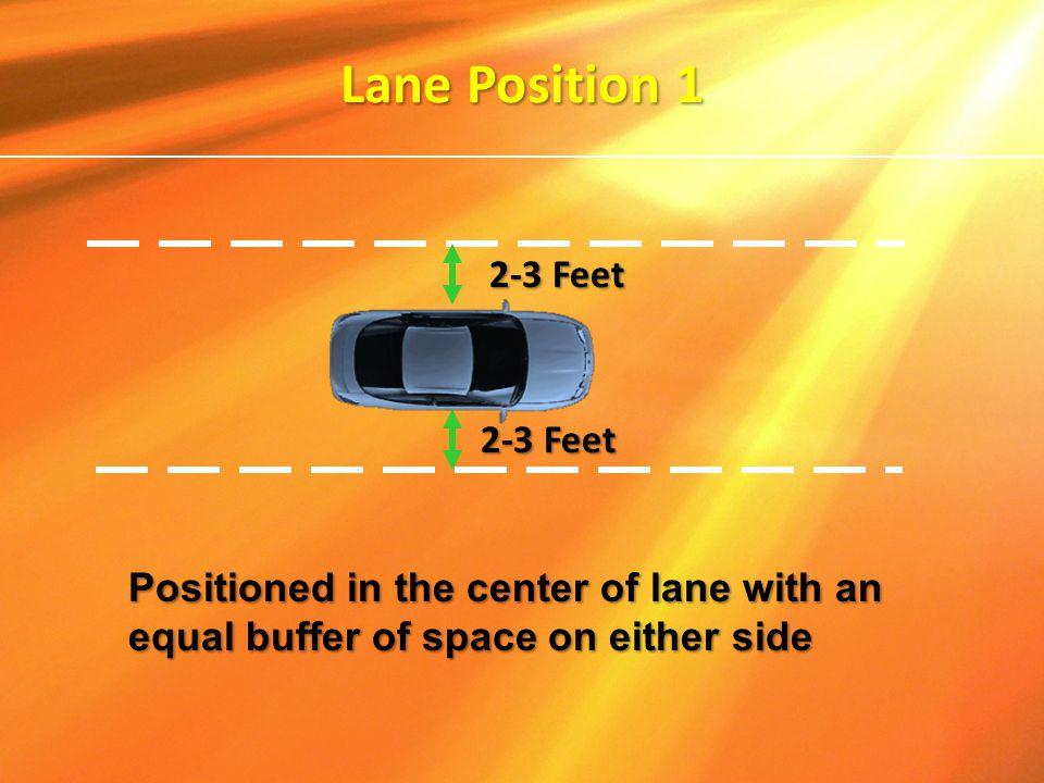 Lane Position 1 2-3 Feet 2-3 Feet