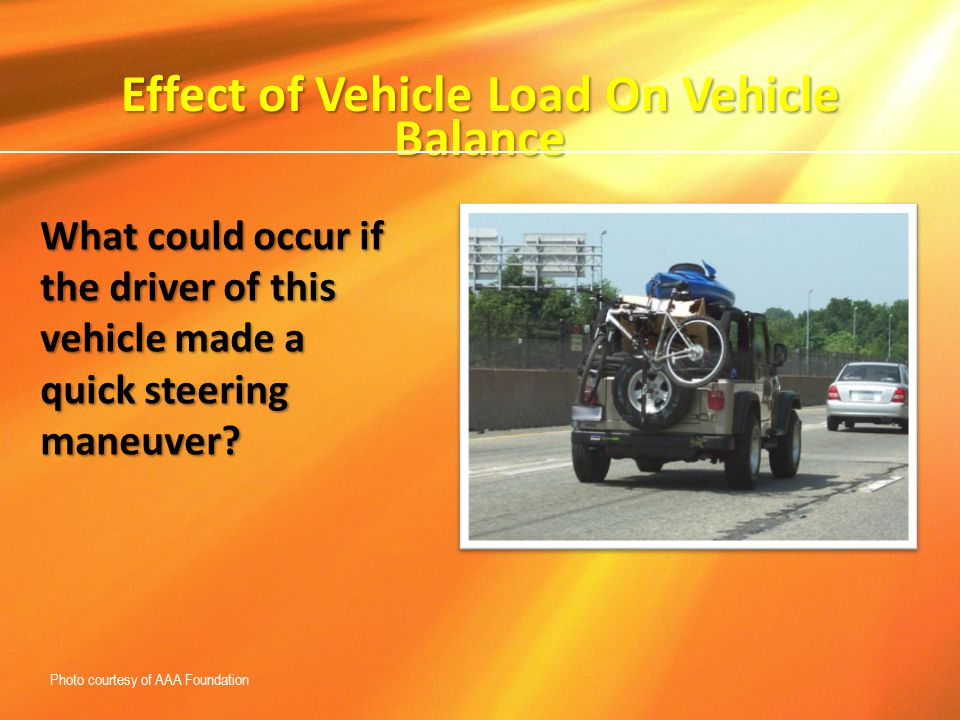 Effect of Vehicle Load On Vehicle Balance