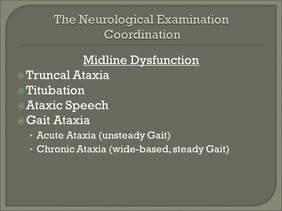The Neurological Examination Coordination