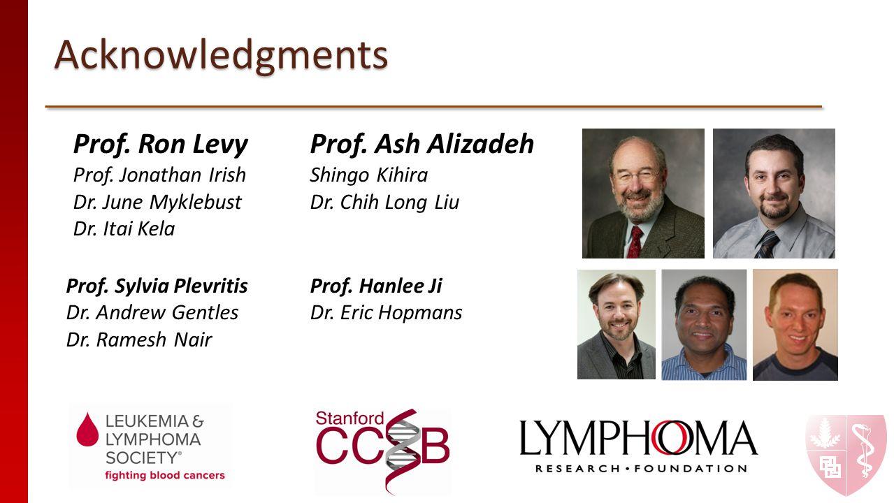Acknowledgments Prof. Ron Levy Prof. Ash Alizadeh Prof. Jonathan Irish