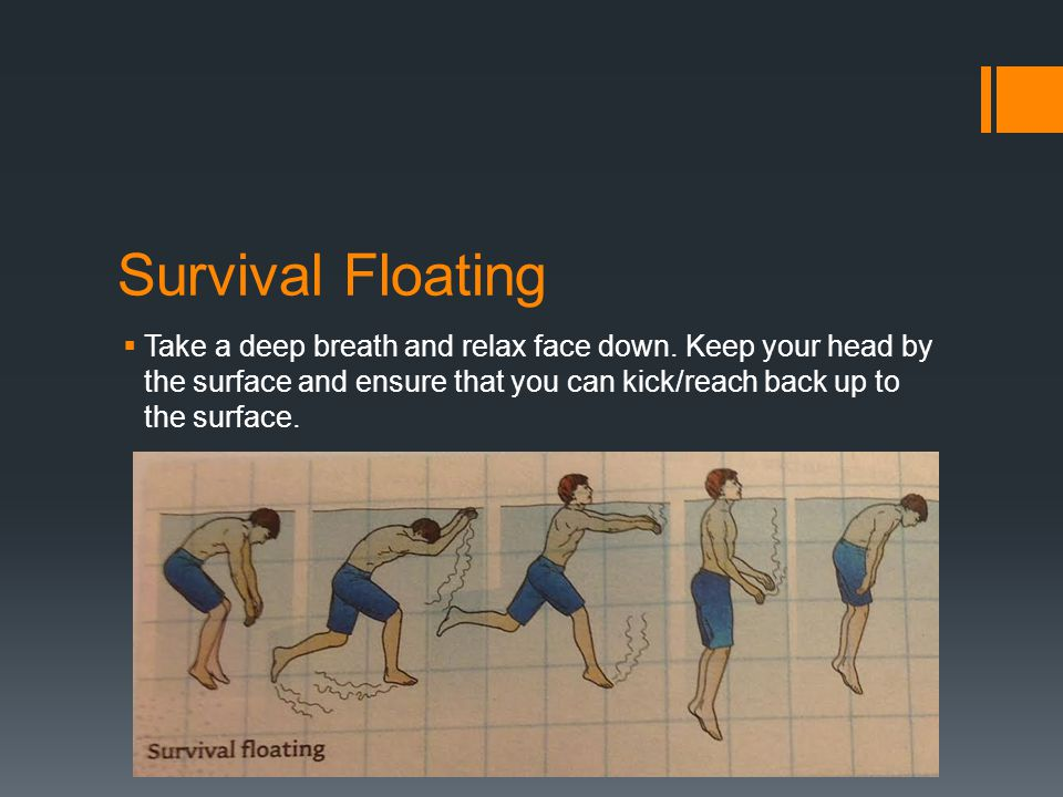 Survival Floating Take a deep breath and relax face down.
