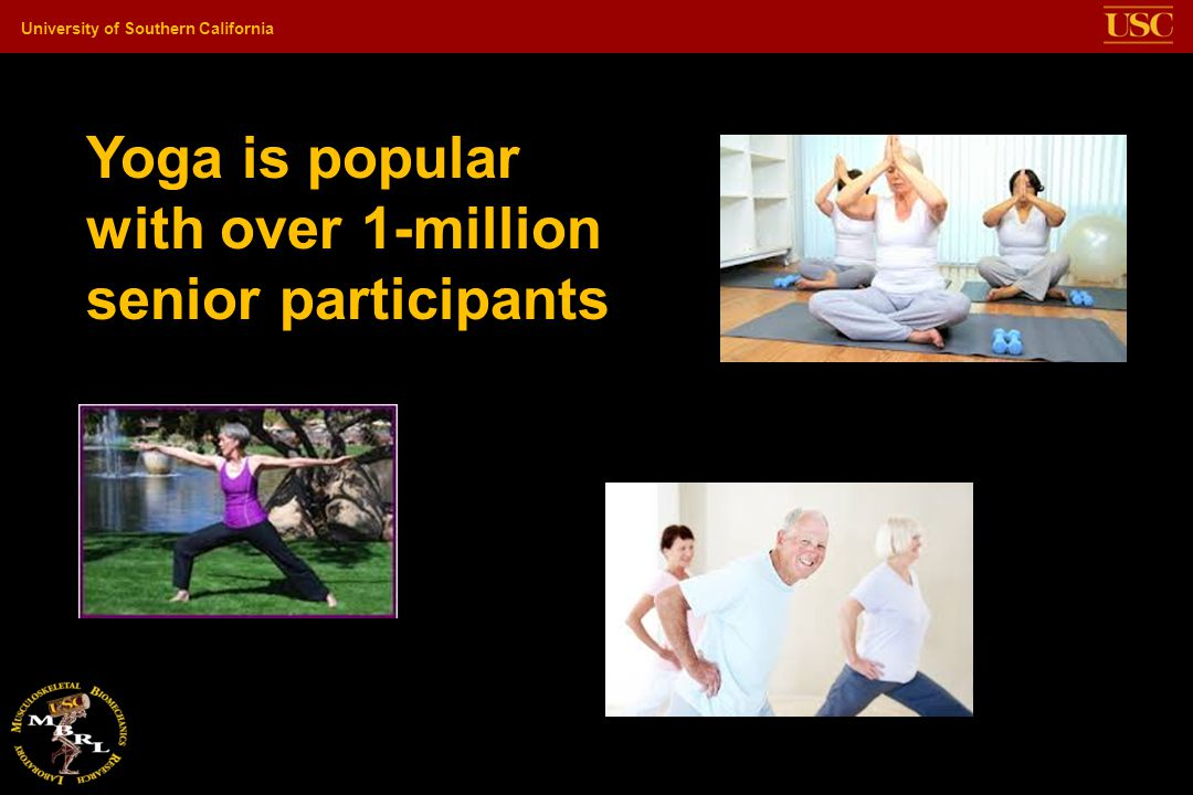 Yoga is popular with over 1-million senior participants