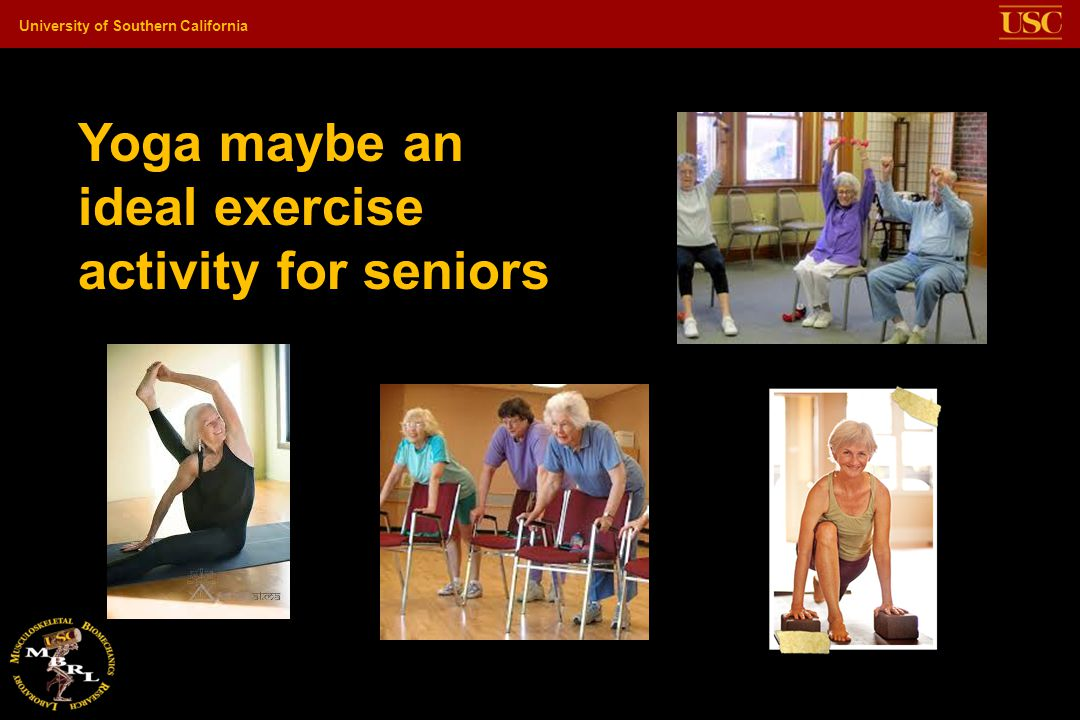 Yoga maybe an ideal exercise activity for seniors