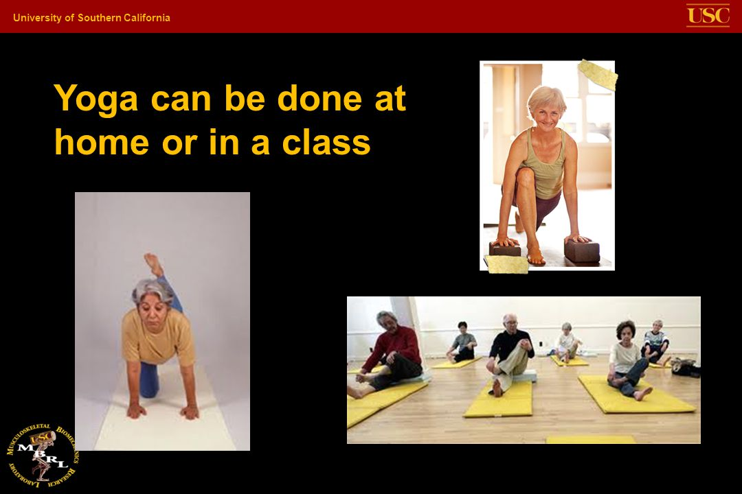 Yoga can be done at home or in a class