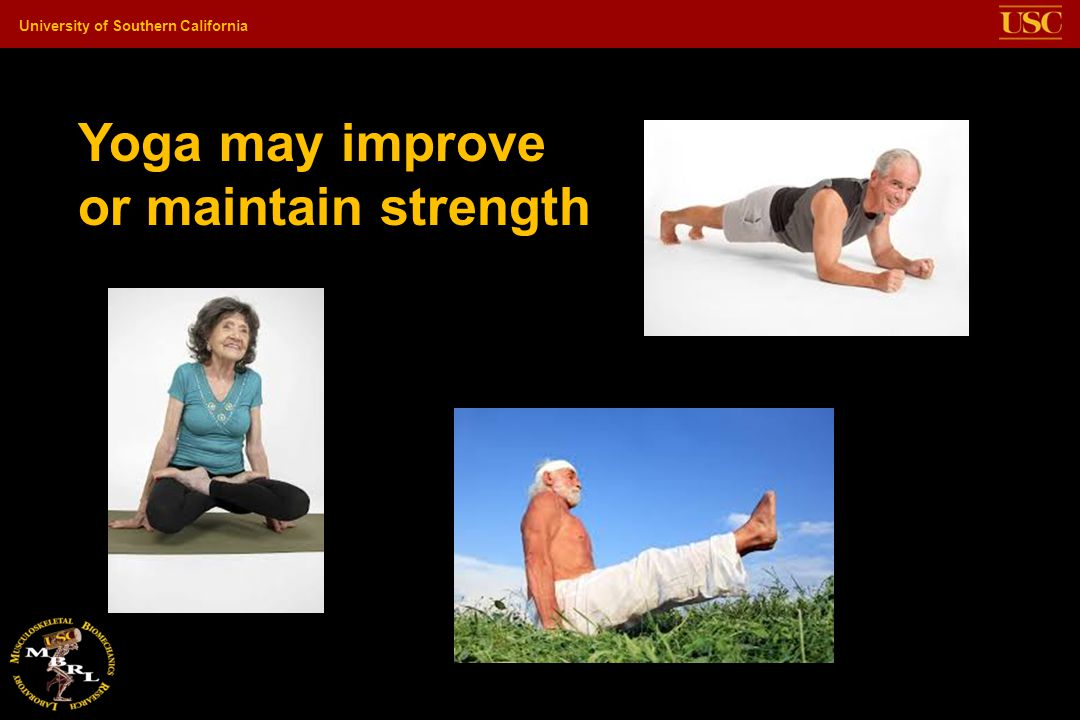 Yoga may improve or maintain strength