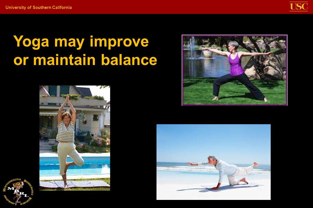 Yoga may improve or maintain balance