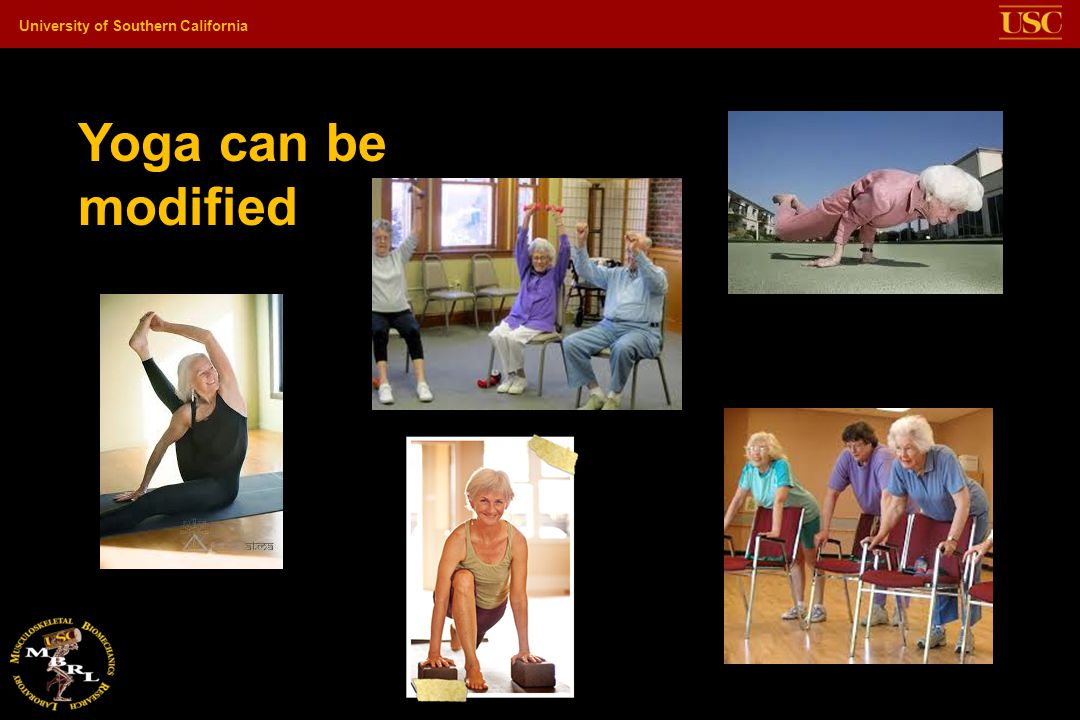 Yoga can be modified