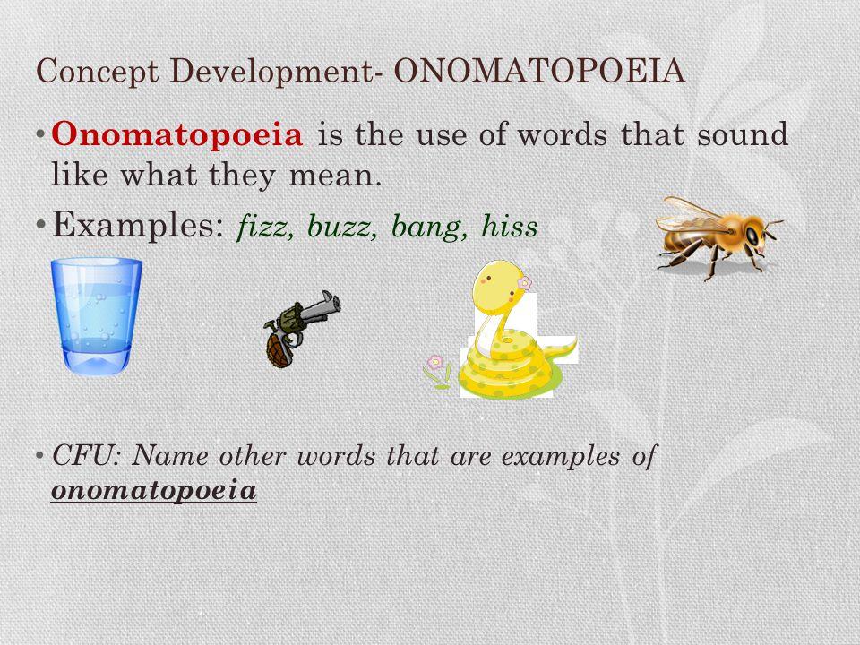 Concept Development- ONOMATOPOEIA