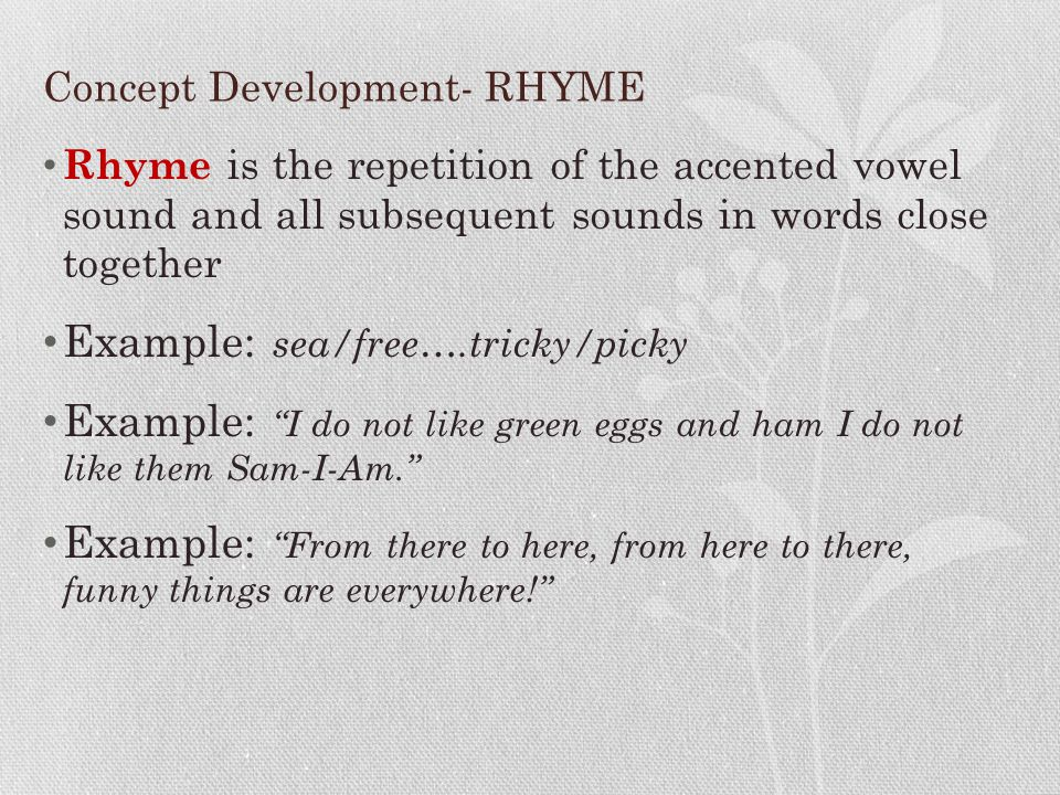 Concept Development- RHYME