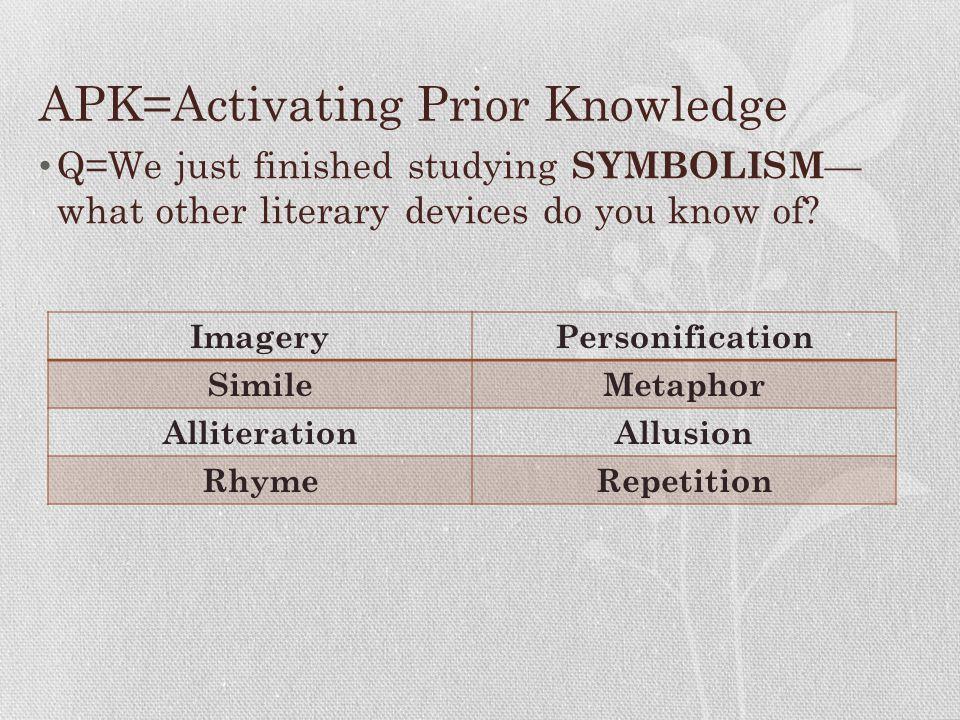APK=Activating Prior Knowledge