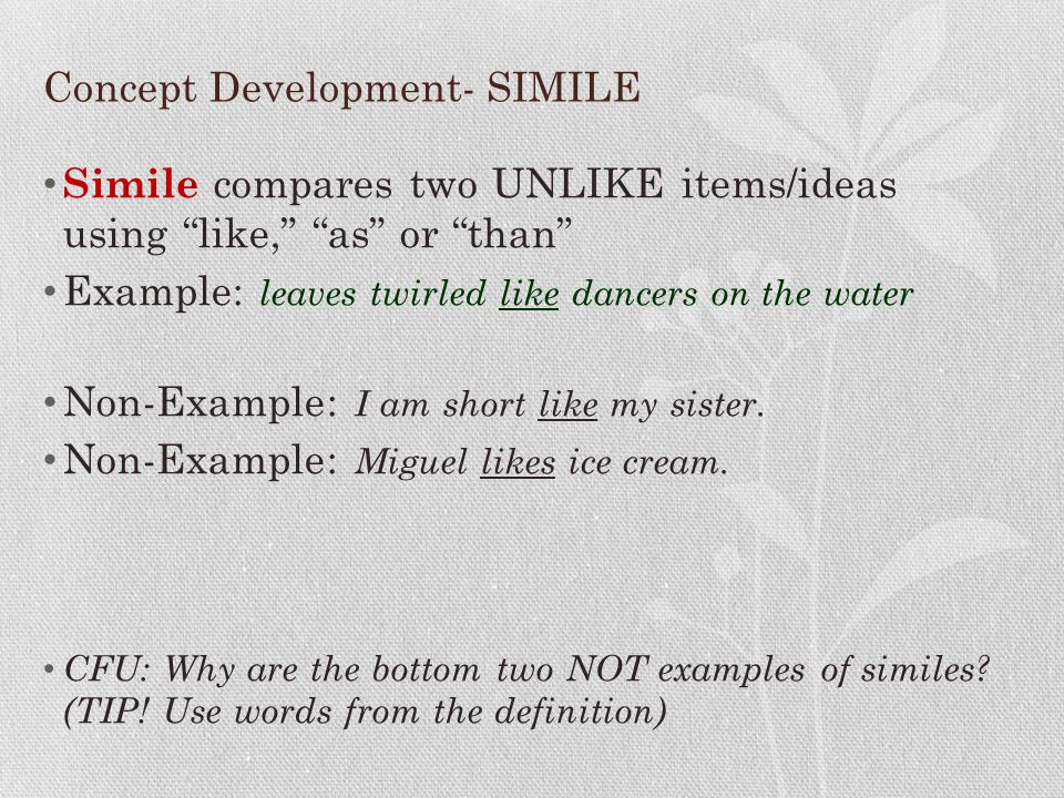 Concept Development- SIMILE