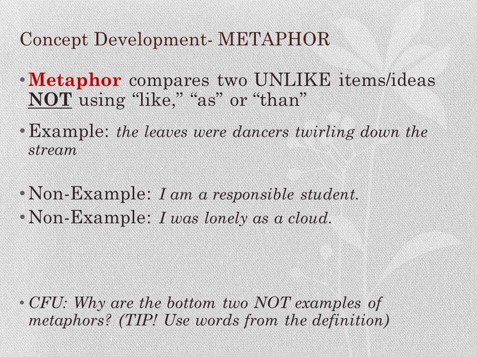 Concept Development- METAPHOR