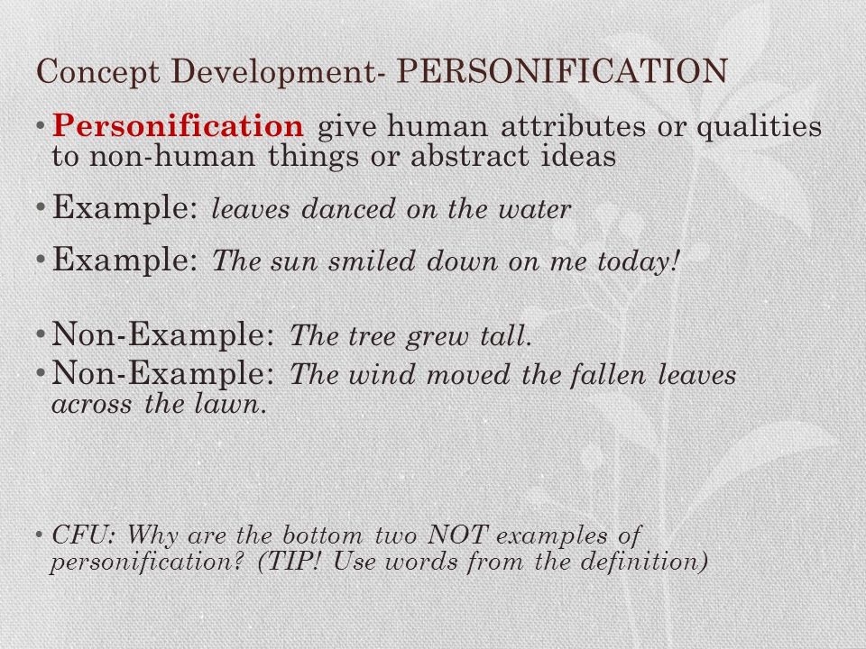 poetry and literary devices ppt concept development personification