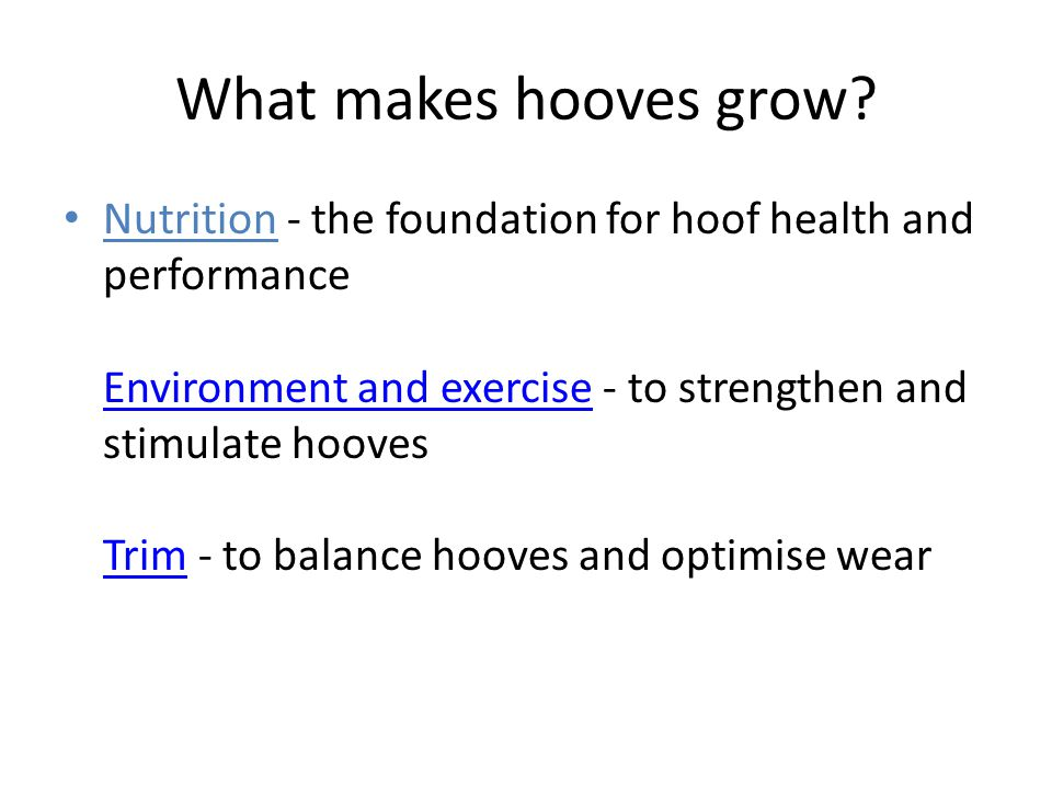 What makes hooves grow