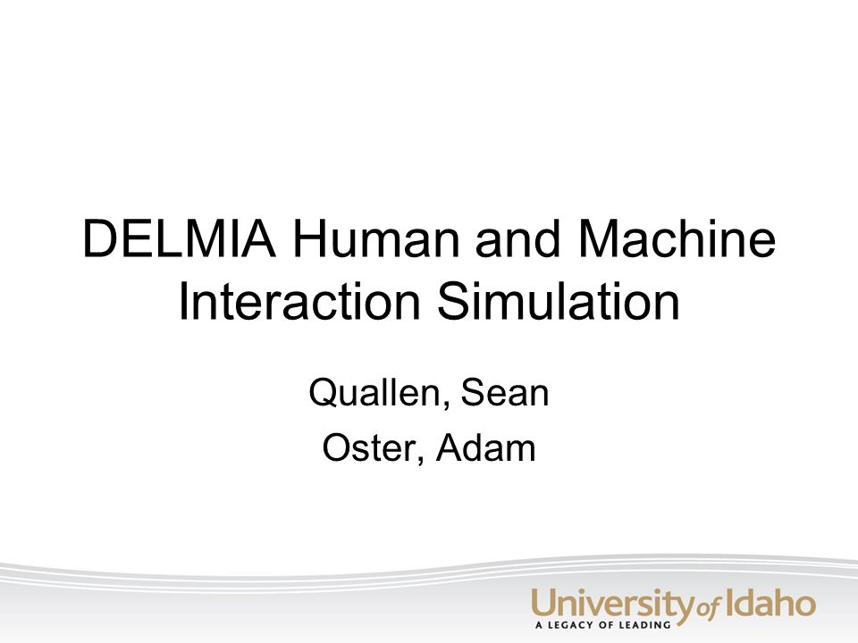 DELMIA Human and Machine Interaction Simulation