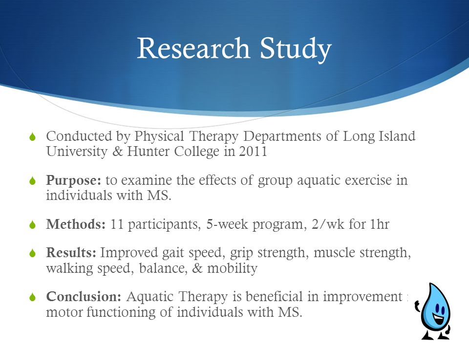 Research Study Conducted by Physical Therapy Departments of Long Island University & Hunter College in 2011.