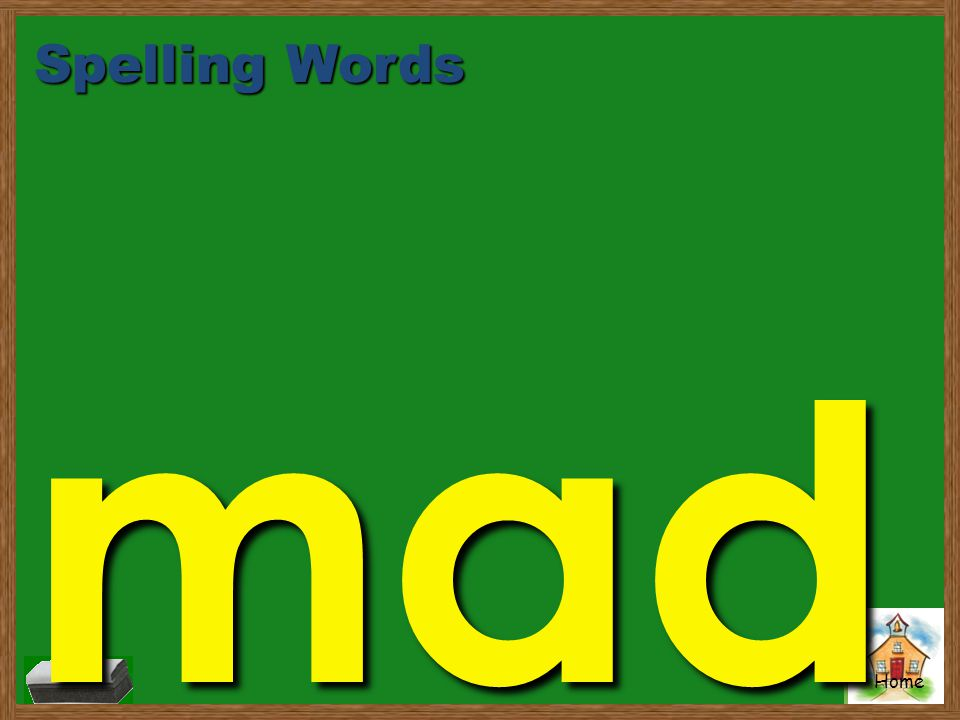 Spelling Words mad