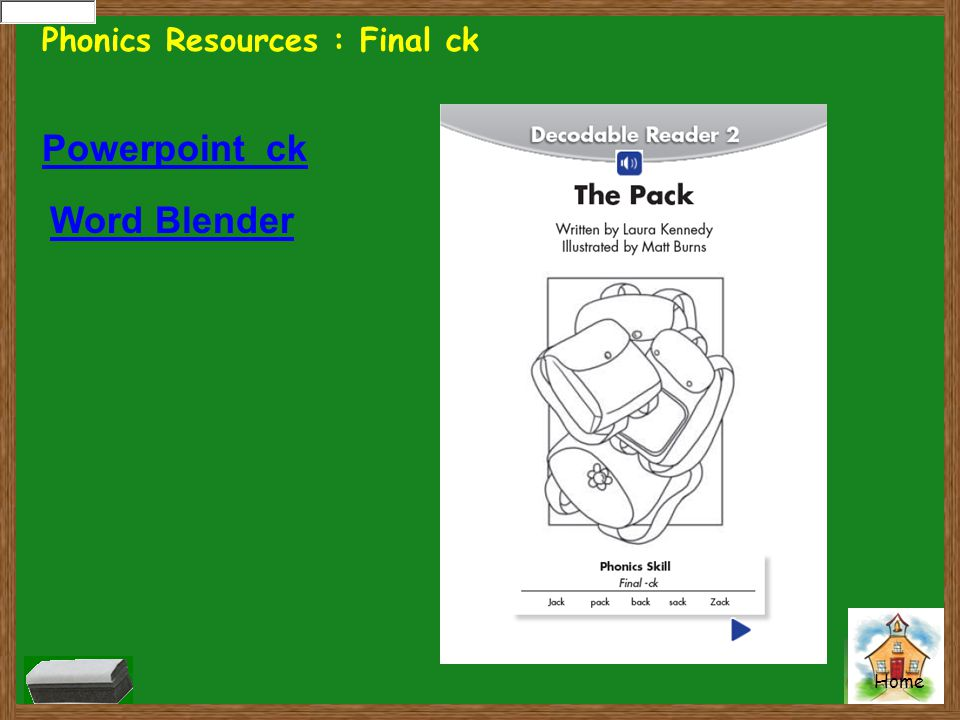 Phonics Resources : Final ck