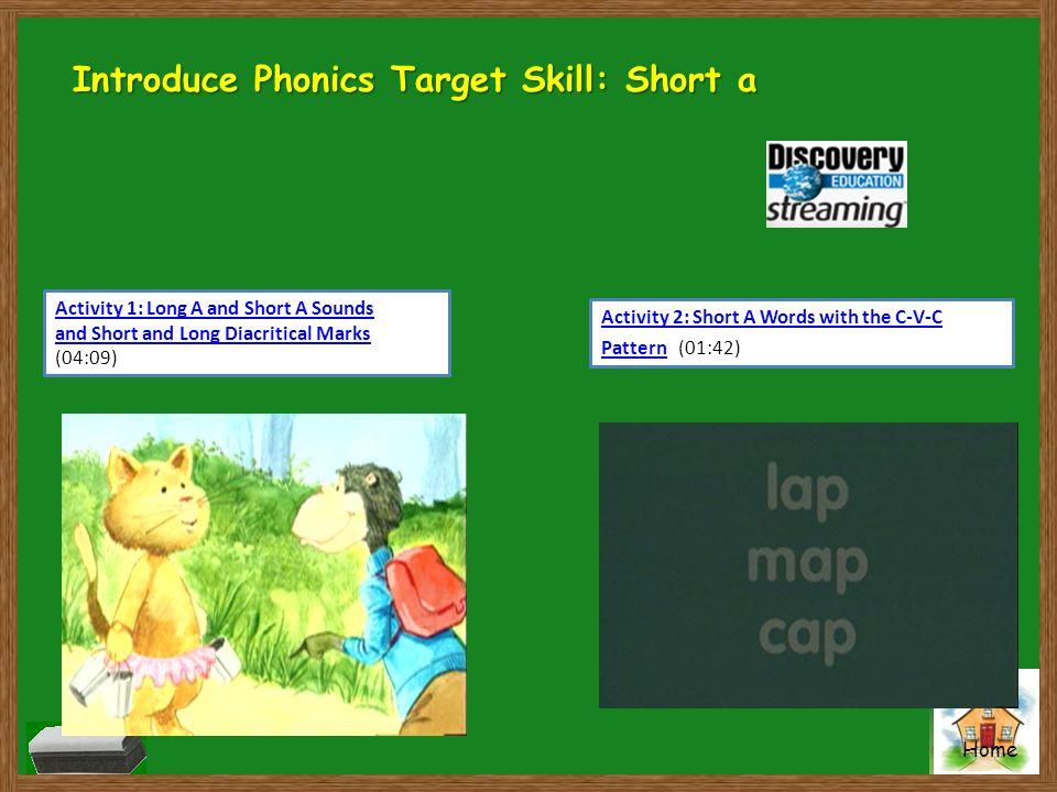 Introduce Phonics Target Skill: Short a