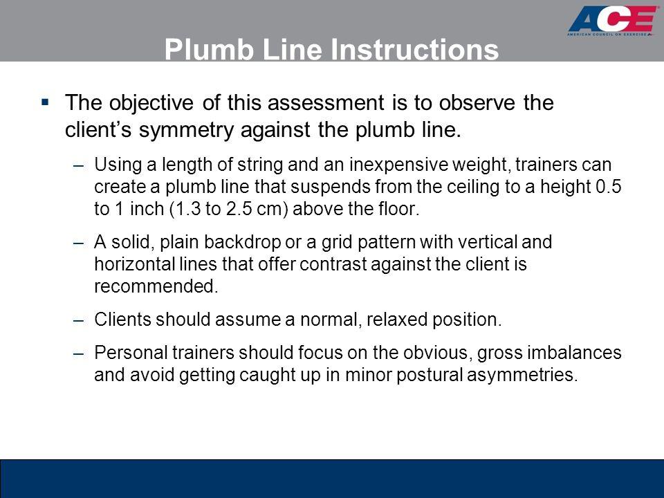 Plumb Line Instructions