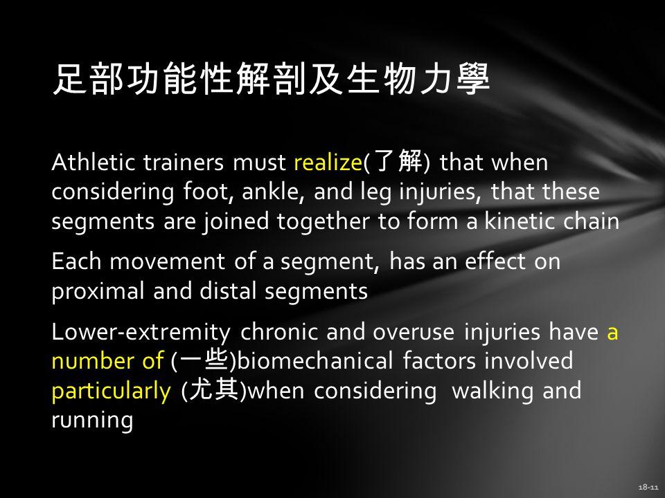 足部功能性解剖及生物力學