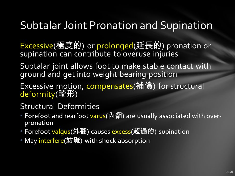 Subtalar Joint Pronation and Supination