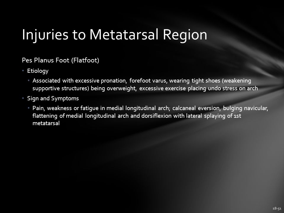 Injuries to Metatarsal Region