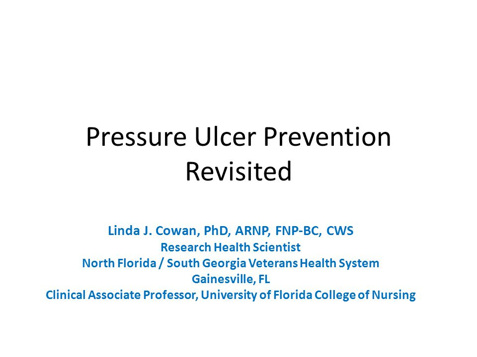Pressure Ulcer Prevention Revisited