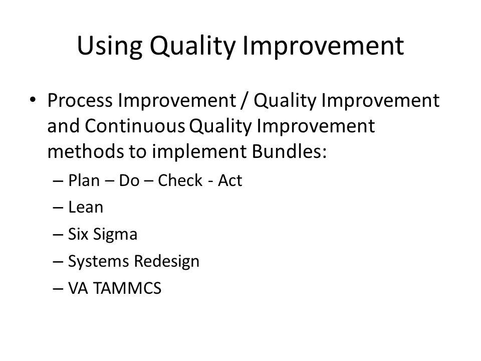 Using Quality Improvement