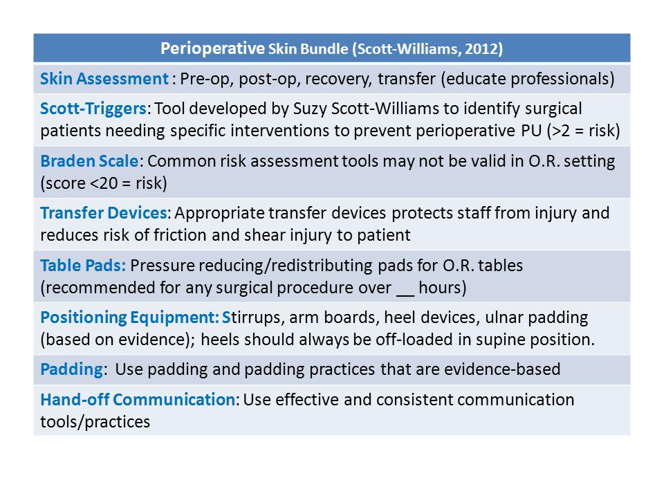 Perioperative Skin Bundle (Scott-Williams, 2012)