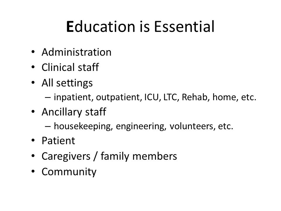 Education is Essential