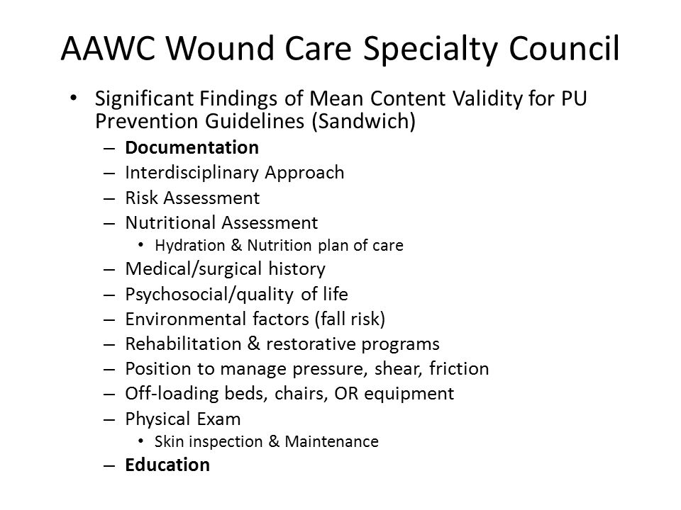 AAWC Wound Care Specialty Council