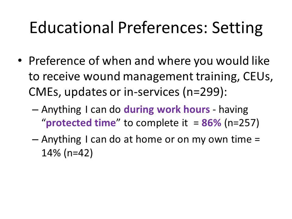 Educational Preferences: Setting