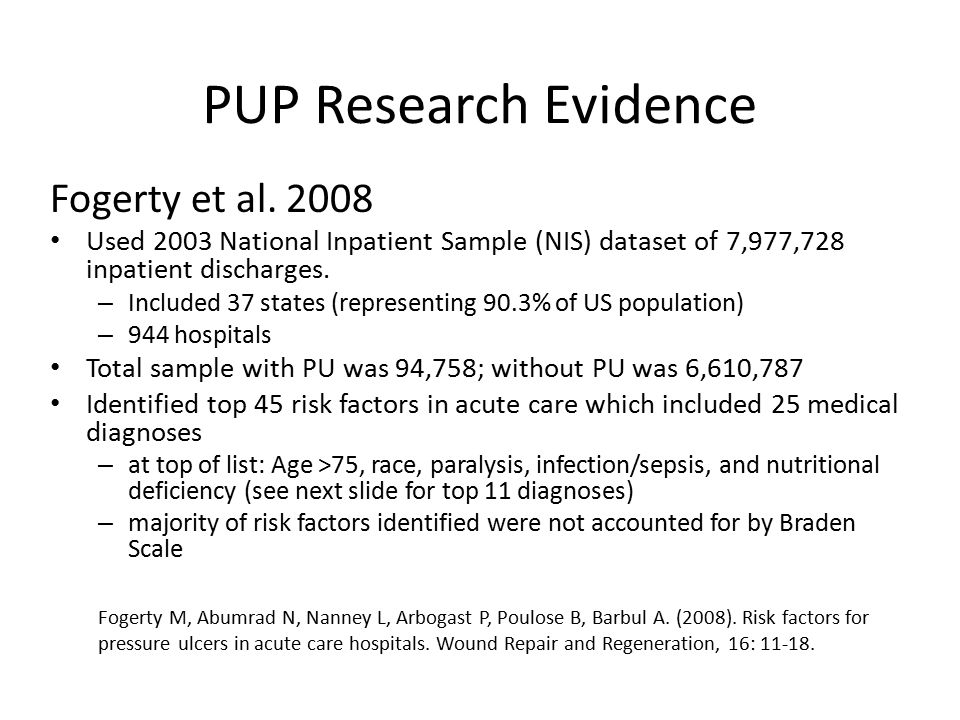 PUP Research Evidence Fogerty et al. 2008