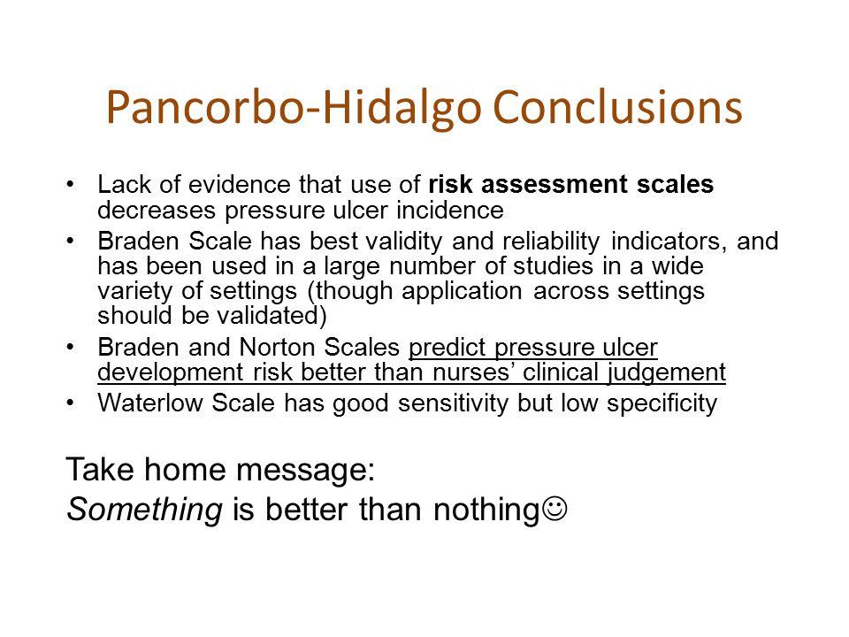Pancorbo-Hidalgo Conclusions