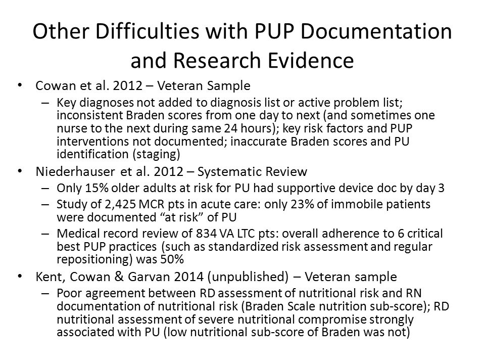 Other Difficulties with PUP Documentation and Research Evidence