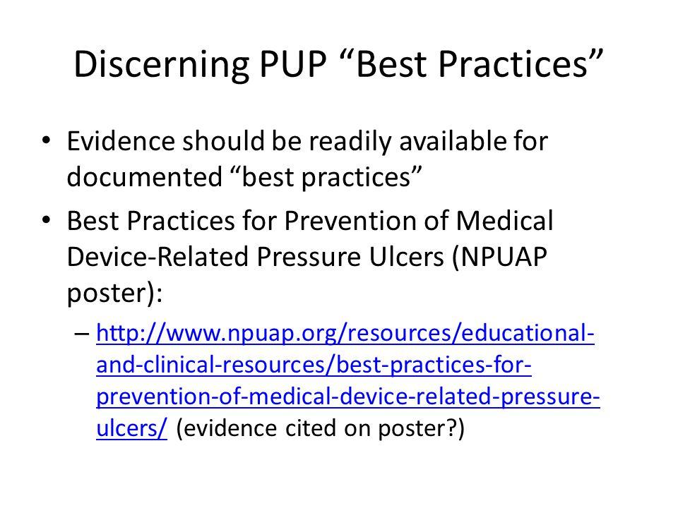 Discerning PUP Best Practices