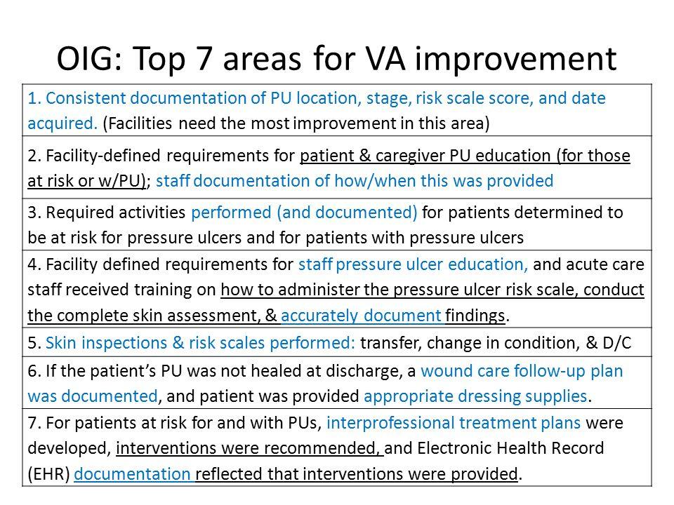 OIG: Top 7 areas for VA improvement