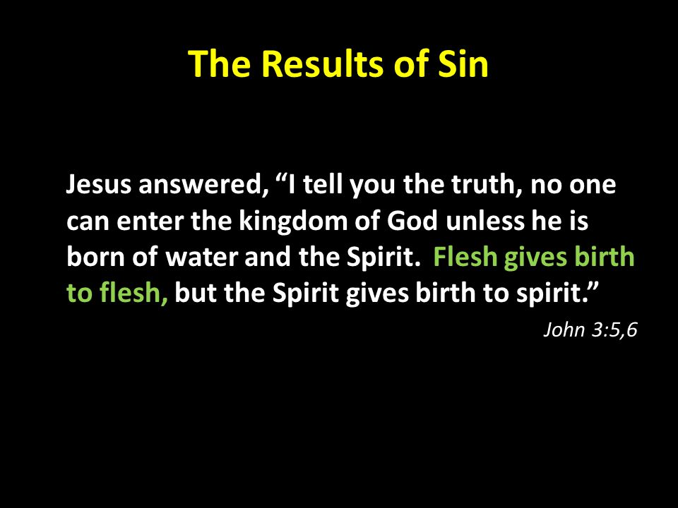 The Results of Sin
