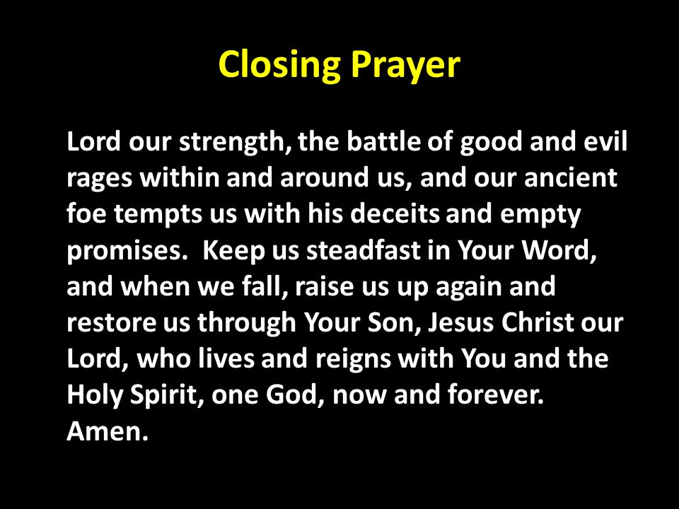 Closing Prayer