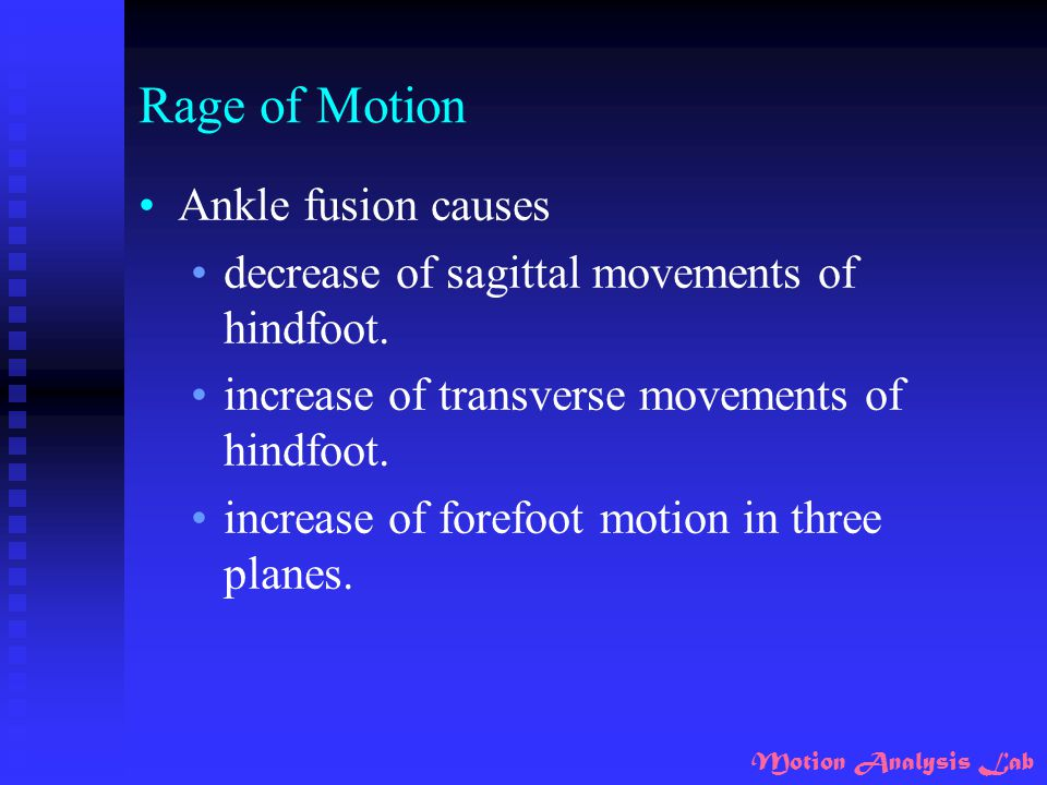 Rage of Motion Ankle fusion causes