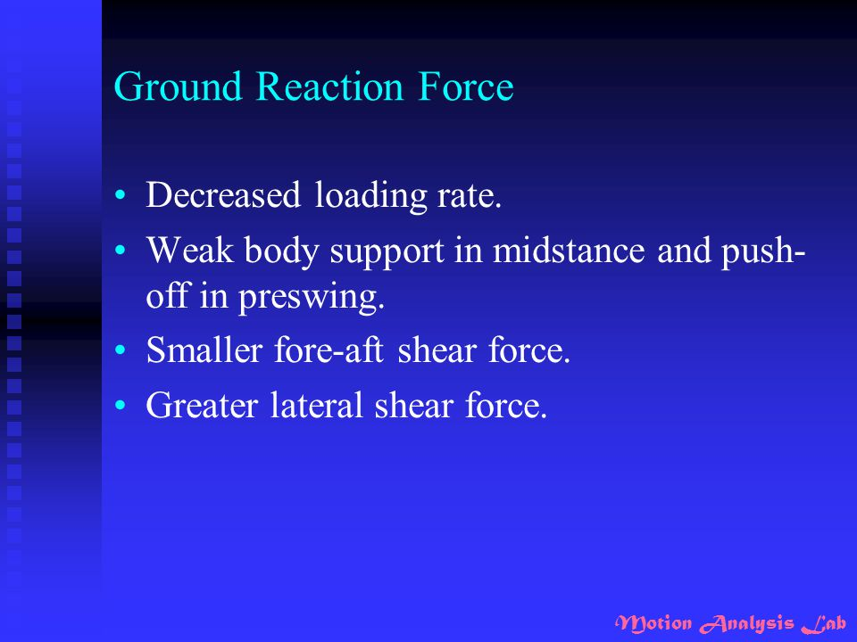 Ground Reaction Force Decreased loading rate.